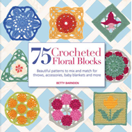 75 Crocheted Floral Blocks (BOK)
