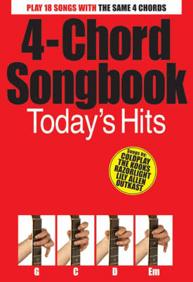 4-Chord Songbook: Today's Hits (BOK)