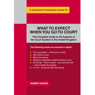 What to Expect When You Go to Court: A Straightforward Guide (BOK)