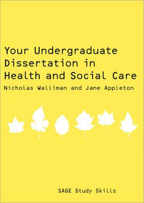 your undergraduate dissertation nicholas walliman