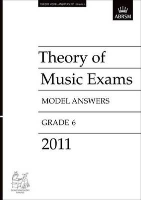 Theory of Music Exams 2011 Model Answers, Grade 6 (BOK)