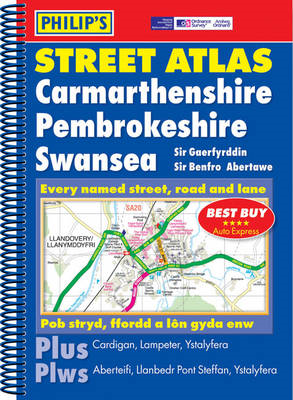 Philip's Street Atlas Carmarthenshire, Pembrokeshire and Swansea (BOK)