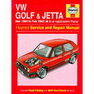 Volkswagen Golf and Jetta ('84 to '92) Service and Repair Manual (BOK)