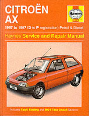 Citroen AX (1987-97) Service and Repair Manual (BOK)