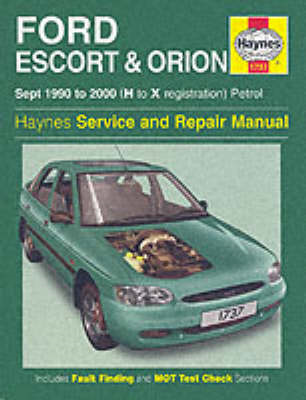 Ford Escort and Orion Service and Repair Manual (BOK)
