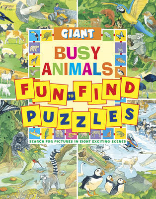 Giant Fun-to-Find Puzzles Busy Animals (BOK)