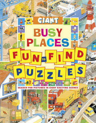 Giant Fun to Find Puzzles Busy Places (BOK)