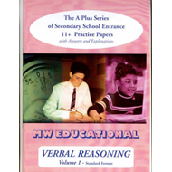 Verbal Reasoning: The A-plus Series of Secondary School Entrance 11+ Practice Papers: v. 1: with Ans (BOK)
