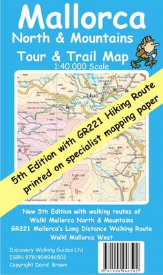 Mallorca North and Mountains Tour and Trail Map (BOK)
