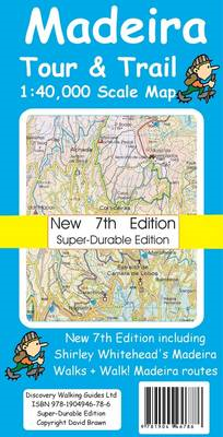 Madeira Tour & Trail Map Super-durable Version (BOK)