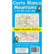 Costa Blanca Mountains Tour & Trail Super-durable Map (BOK)