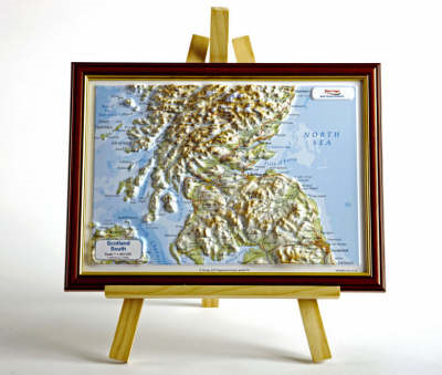 Scotland South Raised Relief Map: Unframed (BOK)