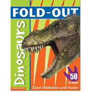 Fold-Out Dinosaurs Sticker Book (BOK)