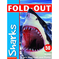 Fold-Out Sharks Sticker Book (BOK)