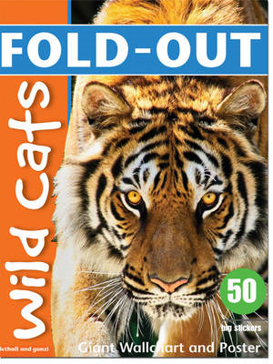 Fold-Out Wild Cats Sticker Book (BOK)