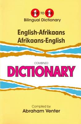 English-Afrikaans & Afrikaans-English One-to-One Dictionary (BOK)