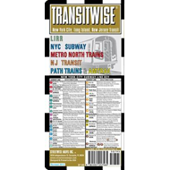 Streetwise Transitwise New York New Jersey Transit Map - LIR (BOK)