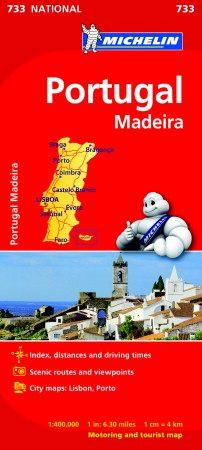 Portugal & Madeira - Michelin National Map 733 (BOK)