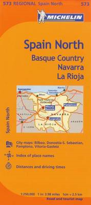 Michelin Spain: North, Basque Country, Navarra, La Rioja Map (BOK)