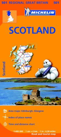 Scotland - Michelin Regional Map 501 (BOK)