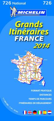 France Route Planning 2014 National Map 726 (BOK)