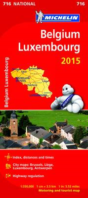 Belgium and Luxembourg 2015 National Map 716 (BOK)