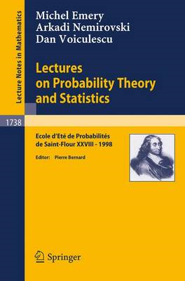 Lectures on Probability Theory and Statistics (BOK)