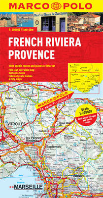French Riviera, Provence Marco Polo Map (BOK)