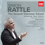 Produktbilde for Simon Rattle - The Second Viennese School (5CD)