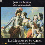 Nebra: Amor Aumenta El Valor (CD)