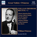William Primrose - Great Violists: William Primrose Recital, Vol 2 (CD)