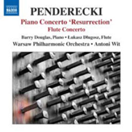 Penderecki: Resurrection Piano Concerto / Flute Concerto (CD)