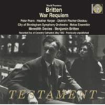 Britten: War Requiem - World Premier Recording Live At Coventry Cathedral 1962 (CD)