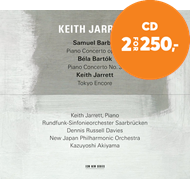 Produktbilde for Keith Jarrett - Barber & Bartok Piano Concertos (CD)