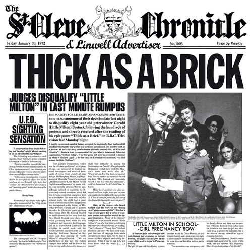Thick As A Brick - 40th Anniversary Special Edition (Steven Wilson Mix) (CD)