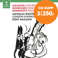 Produktbilde for Milhaud: Cello Concerto No. 1; Honegger: Cello Concerto; Hoddinott (CD)