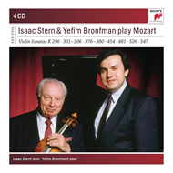 Produktbilde for Isaac Stern & Yefim Bronfman Play Mozart Violin Sonatas (USA-import) (4CD)