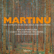 Produktbilde for Martinu: Complete Music For Violin And Orchestra (4CD)