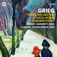 Produktbilde for Grieg: Piano, Orchestral & Vocal Works, Chamber Music (13CD)