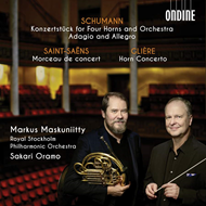 Produktbilde for Konzertstück For Four Horns And Orchestra; Adagio And Allegro; Morceau De Concert; Horn Concerto (CD)