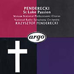 Penderecki: St Luke Passion (CD)