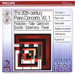 20th Century Piano Concertos, Vol 1 (CD)