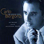 The Sublime Voice of Carlo Bergonzi (CD)