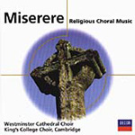 Miserere - Religious Choral Music (CD)