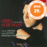 Produktbilde for Leif Ove Andsnes - Grieg: Piano Concerto Op 16; Schumann: Piano Concerto Op 54 (CD)