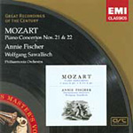 Mozart: Piano Concertos Nos 21 and 22 (CD)
