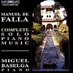 Falla: Complete Solo Piano Music (CD)