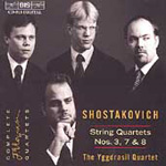 Shostakovich: String Quartets Nos 3, 7 & 8 (CD)