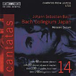Bach: Cantatas 48, 89, 109 and 148 (CD)