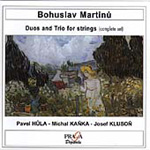 Martinu: Complete Duos and Trio for Strings (CD)